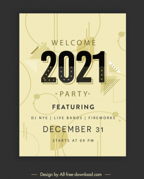2021 party poster template classica geometric decor