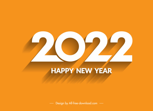 2022 calendar cover template elegant flat number decor