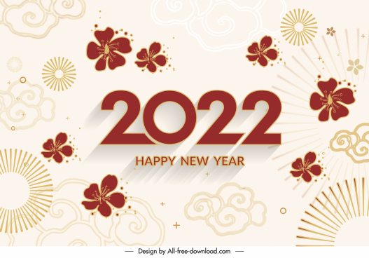 2022 calendar cover template elegant oriental decor