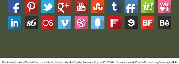 20 free flat vector icons shadow style original colour