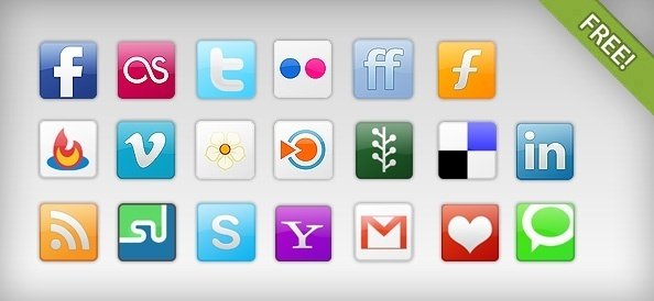 20 Free Social Network Icons