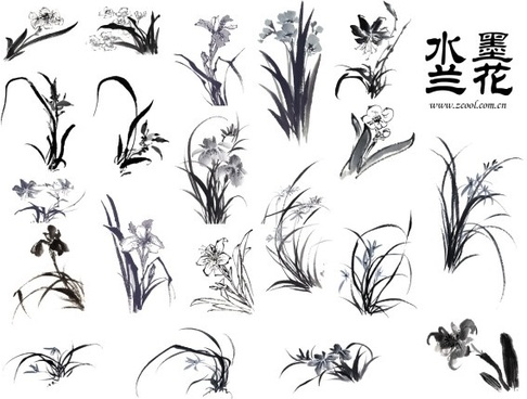 20 painting ink orchid hd picture