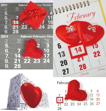 214 valentine39s day desk calendar highdefinition picture