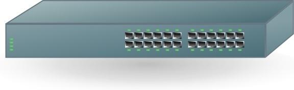 24 Ports Switch clip art