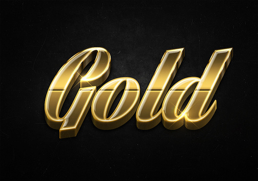 25 3d shiny gold text effects preview