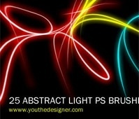 25 Abstract Light Brushes Vol.1
