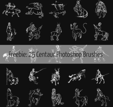 25 free centaur photoshop brushes