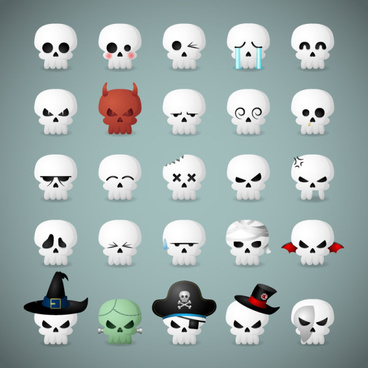 25 kind funny skull icons