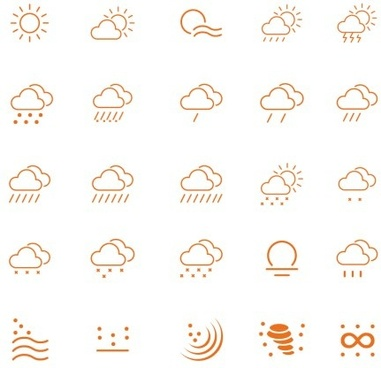 25 kind weather outline icons