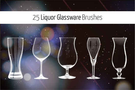 25 liquor glass brushes for photoshop