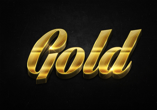 27 3d shiny gold text effects preview