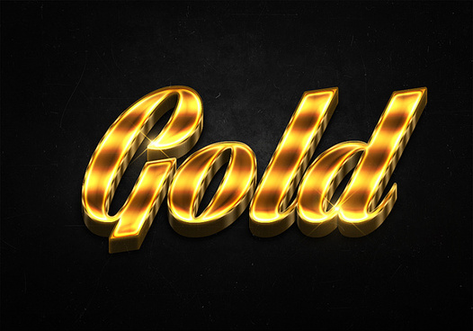 28 3d shiny gold text effects preview
