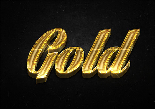 29 3d shiny gold text effects preview