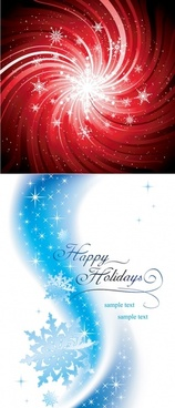 2 beautiful snowflake background vector