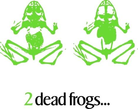 2 Dead Frogs clip art