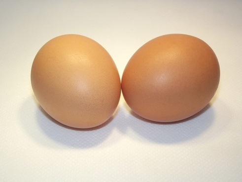 2 eggs in shell