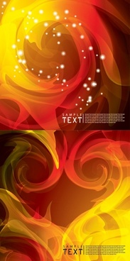 2 flame background vector