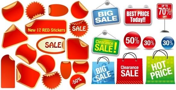 2 sets of icon vector sales