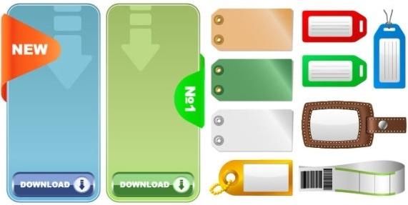2 sets of tag tag vector