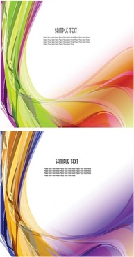 2 symphony of dynamic background of wavy lines vector