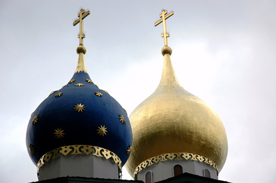 2 traditional russian orthodox spires orthodox church of all russian saints burlingame california usa