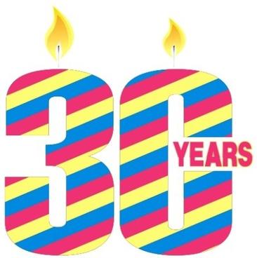 30th anniversary celebration vector design