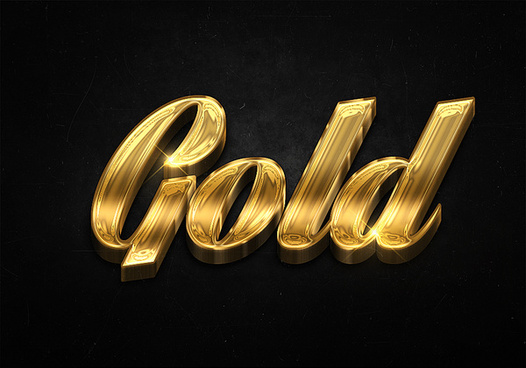 31 3d shiny gold text effects preview