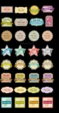 32 cute label gift card vector