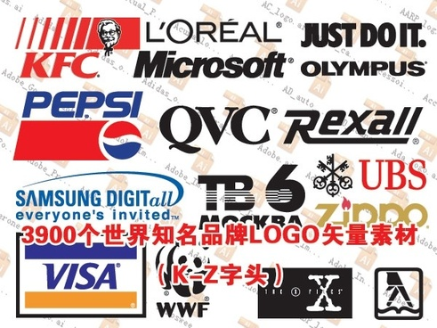 3900 logo vector worldrenowned brands under the set kz prefix