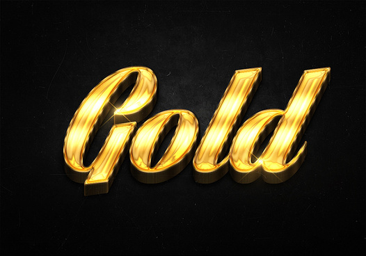 39 3d shiny gold text effects preview