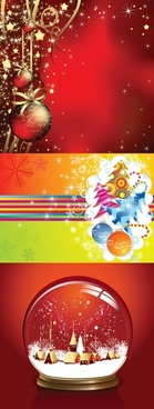 3 beautiful christmas vector