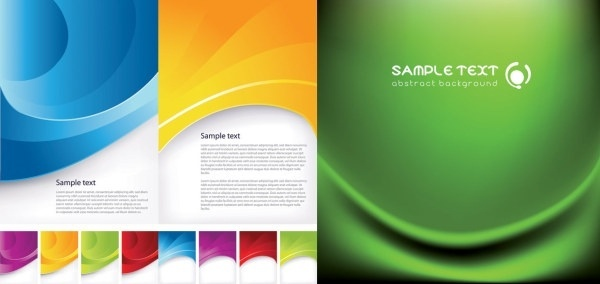 3 beautiful dynamic lines of the background vector