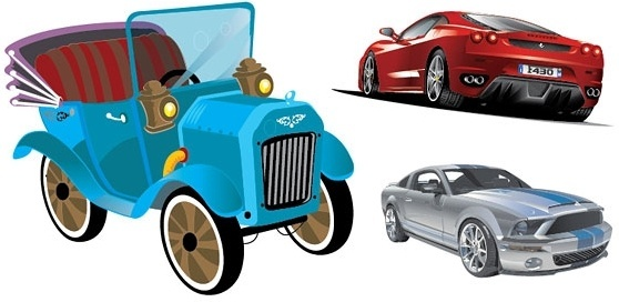 3 car vector