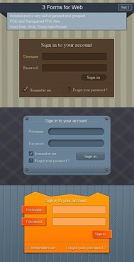 3 english login box psd