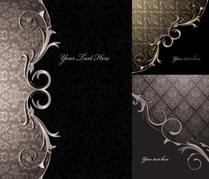 3 gorgeous european classical pattern vector
