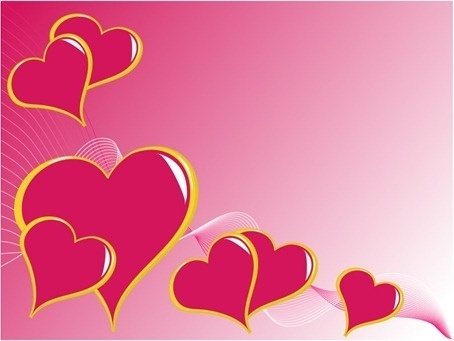 3 Heart-shaped Vector Graphics