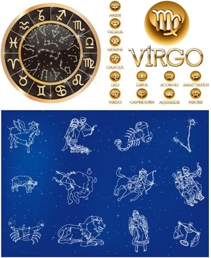 3 sets of 12 constellation vector