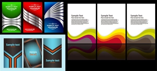 3 sets of card template vector