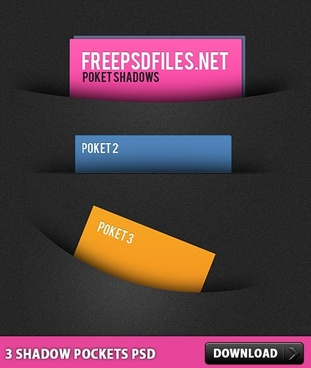 3 Shadow Pockets Free PSD