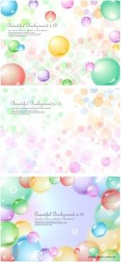 3 transparent sphere background vector