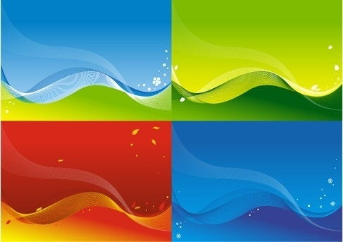 3 vector colorful backgrounds