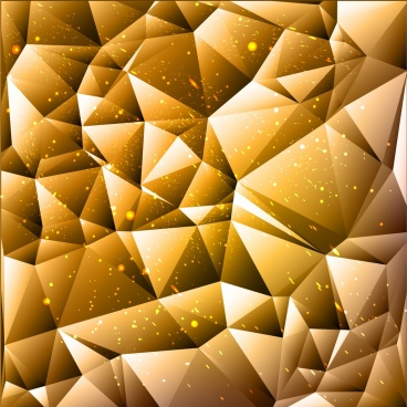 3d abstract background yellow low poly decor