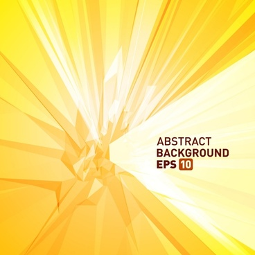 abstract technology background bright yellow dynamic 3d shape