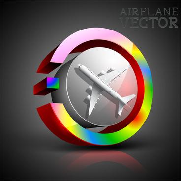 3d airplane button