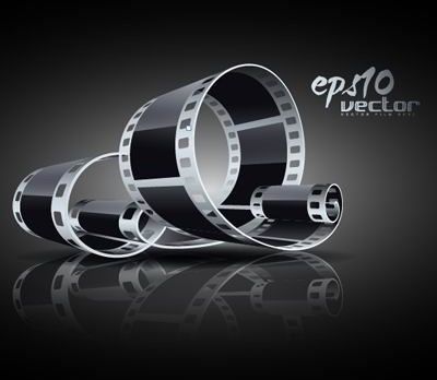 3d black and white film clip art 5