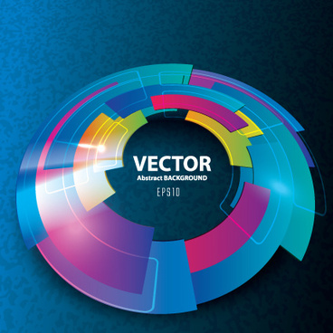 3d blue vector background