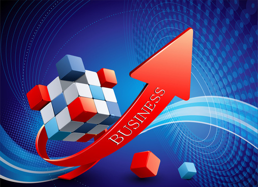 3d business growth up arrow