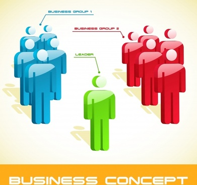 business leadership concept background human sign icons