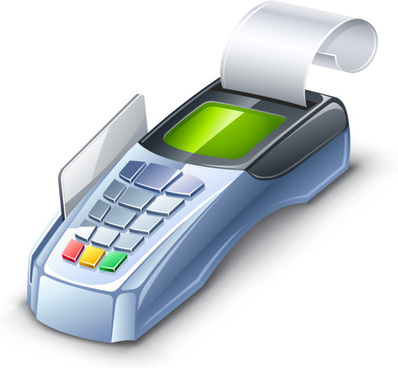 3d card machine vector