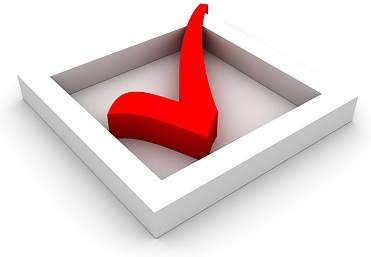 3d check mark selection box picture